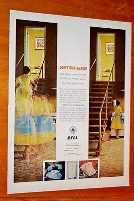 Beautiful 1961 Bell Canada Telephone Dont Run-Reach Ad - Vintage Canadian 60S