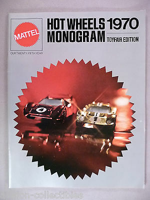 Mattel Toy CATALOG - 1970 ~~ Hot Wheels and Monogram ~~ toys