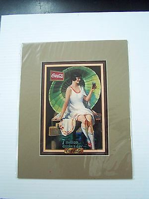 Coca-Cola Reproduction Matted Print - NEW  CC-14  FREE SHIPPING