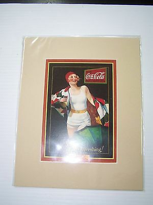 Coca-Cola Reproduction Matted Print So Refreshing - NEW  CC-12  FREE SHIPPING