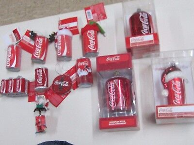 Kurt Adler Coca-Cola Christmas Ornament  Lot of 12