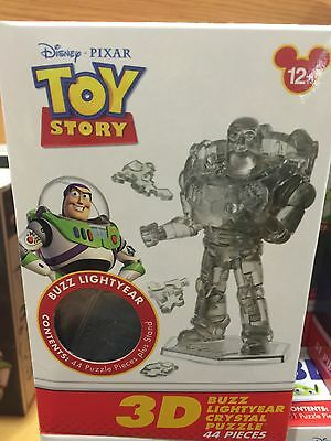Disney Parks Pixar Toy Story Buzz Lightyear 3D Crystal Puzzle 44pcs New with Box