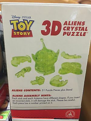Disney Parks Pixar Toy Story Aliens 3D Crystal Puzzle 51pcs New with Box