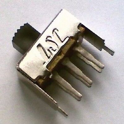 Lot of 4 PCB Slide Switch DPDT 17.5x 7.5x12mm