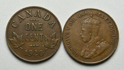 1920 CANADA 1 cent King George V Penny