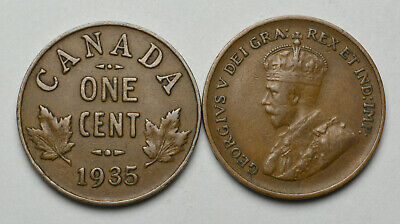 1935 CANADA 1 cent King George V Penny