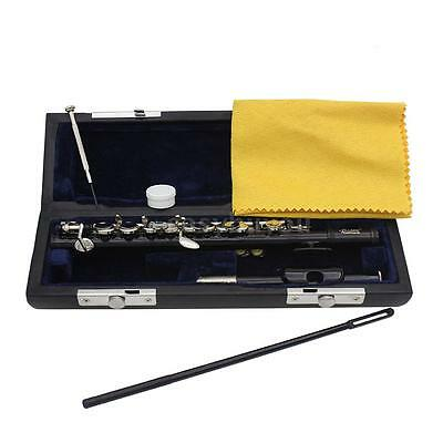 Professional Piccolo Ottavino Half-size Flute Plated C Key with Padded Box F5Y5