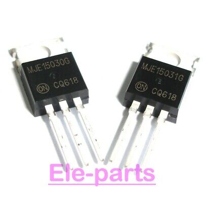 5 Pairs Mje15030 + Mje15031 To-220 E15030 E15031 Power Transistors 10 Pcs