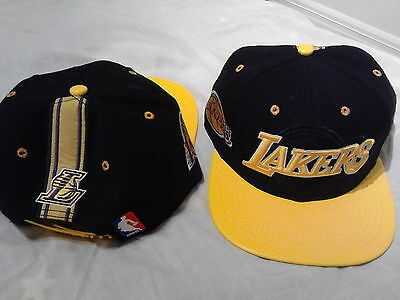 a7c67ce1177a0 LOS ANGELES LAKERS All Black Authentic Leather Adidas Fitted Hat EB ...