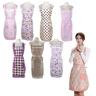 lattice Aprons For Chefs Ladies Kitchen Cooking Work Pocket Womens Funny Novelty