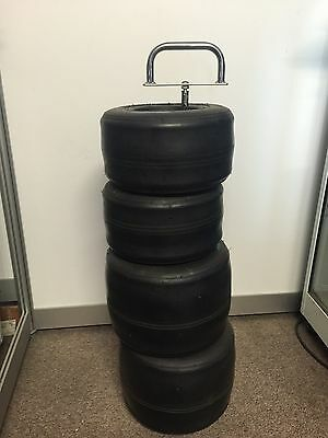 Go Kart - VEGA x 4 Tyres (2 Fronts & 2 Rears) & Carry Stand - New