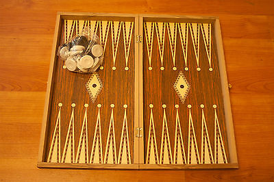 WOODEN BACKGAMMON 48 x 48CM Made in Greece