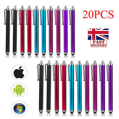 20x Capacitive Tip Metal Stylus Pen for Android iPad Tablet iPhone Touch Screen