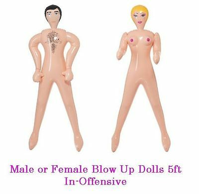Blow Up Doll Man/Woman 5ft Inflatable Inoffensive Hen Do Dolls Stag Night Dolls