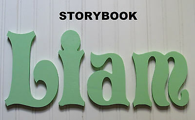 """12"""" size Painted Wooden Wall Letters Children Nursery Playroom Names Storybook"""