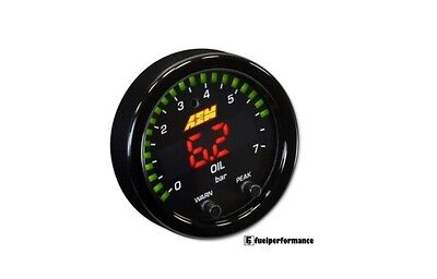AEM X-Series Pressure Gauge 0~100psi/0~7bar Black Bezel & Oil Faceplate 30-0301