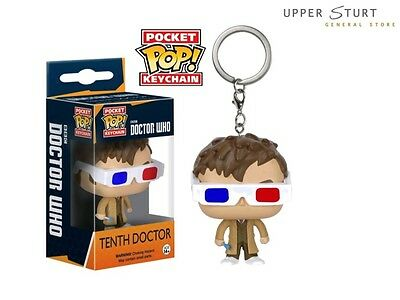Doctor Who - 10th Doctor 3D Glasses Pocket Pop Keychain FAST 'N FREE DELIVERY