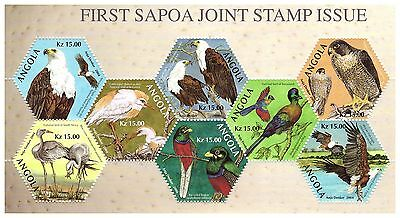 2004 Sapoa First Joint Issue Mini Sheet Set Of All Eight Countries Incl Angola