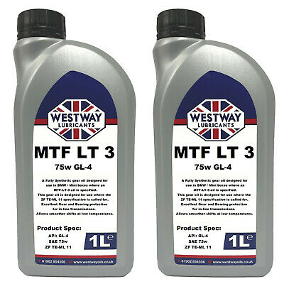 2L Mtf-Lt-3 Synthetic Gear Oil For Bmw Mini Lt3 Westway Lubricants 75W Gear Oil