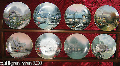 "1 - Lot of 8 Thomas Kinkade's "" Garden Cottages of England plates"" (2016-189)"