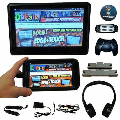 "[SINGLE] Autotain EDGE 10"" Active Headrest Monitor DVD Player [TOUCH SCREEN]"