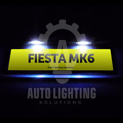 Ford Fiesta Mk6 Mk 6 ST Xenon White LED Number Plate Light Bulbs Upgrade *SALE*
