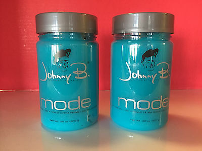 Johnny B Mode Authentic Hair Styling Gel Extra Firm 32oz Each 2 Pack