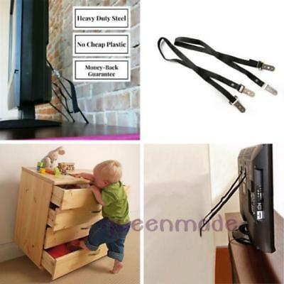 1Set Home Child Proof TV or Furniture Anti-Tip Straps Balmy Baby Safty Safe Q