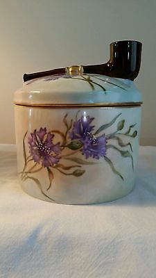 Limoges Hand Painted Humidor Rare Beautiful