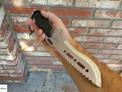 "12"" Silver Tactical Survival Hunting Knife w/ Sheath Military Combat Blade Fixed"