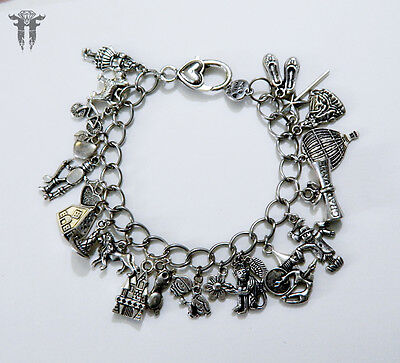 The Wizard of Oz Inspired SP Charm Bracelet Classic Movie Dorothy Toto