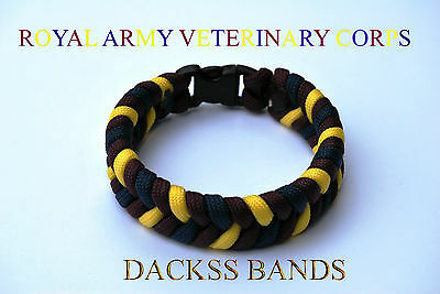 Royal Army Veterinary Corps Paracord Wristband Un-Official Help For Hero's