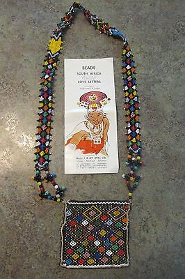 Vintage South African Handcrafted Love Letter Beads Necklace