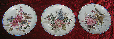 "1 - Lot of 3 Bradford Exchange "" Floral Fancies plates"" (2016-193)"