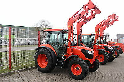 kubota traktor m6060 mit allrad kabine und frontlader. Black Bedroom Furniture Sets. Home Design Ideas
