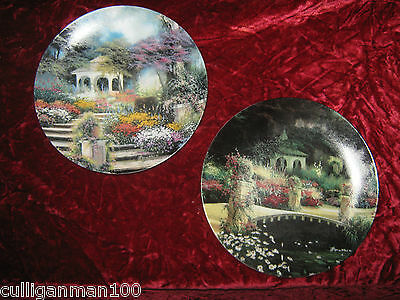 "1 - Lot of 2 Bradford Exchange "" Enchanted Gardens plates"" (2016-194)"