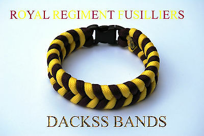 Royal Regiment Fusilliers Handmade Paracord Wristband Un-Official Help For Heros