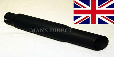 "Wassell Universal Black 15"" Slash Cut Exhaust Silencer Cafe Racer Custom We38032"