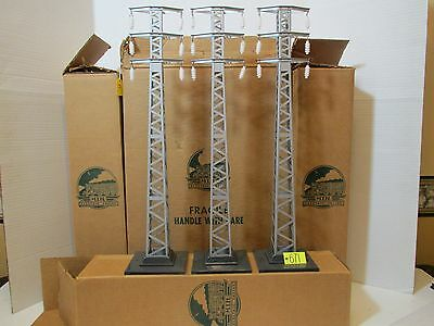 Mth Standard Gauge Three 94 High Tension Towers New In Cardboard Box