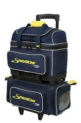 Storm Streamline Navy/Grey/Yellow 4 Ball Roller Bowling Bag