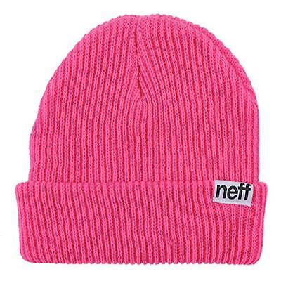 804de6c0e50 New Classic Men Women Neff Fold Beanie Knit Cap Hat Headwear Magenta One  Size