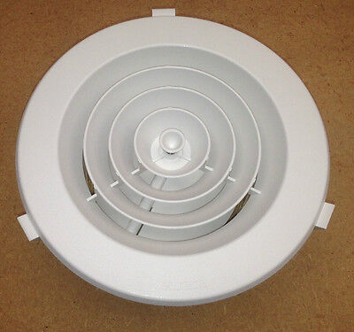 """4 x DUCTED HEATER HEATING CEILING OUTLET VENT ROUND DOWNJET 6"""" 150mm neck size A"""