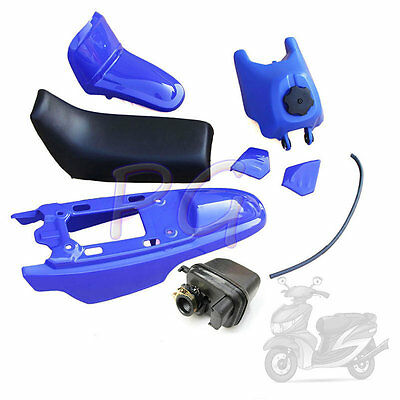 Blue Oem New Peewee Py Pw50 Plastics Seat Tank Air Filter Motocycle