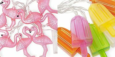 LED Ice Lolly Flamingo Fairy String Lights Chain Battery Powered