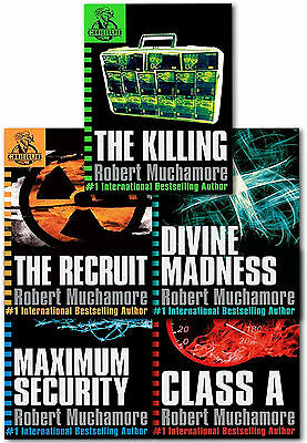 CHERUB Series 1 Collection 5 Books Set by Robert Muchamore The Recruit, Class A