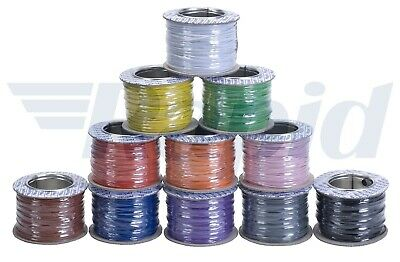 RAPID 16/0.2 Electrical Equipment Wire Cable (500m Reel) - 11 Colour Options