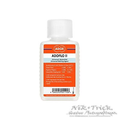 Adox AdoFlo II Universal Wetting Agent 100ml ~ Essential for Clean Films!