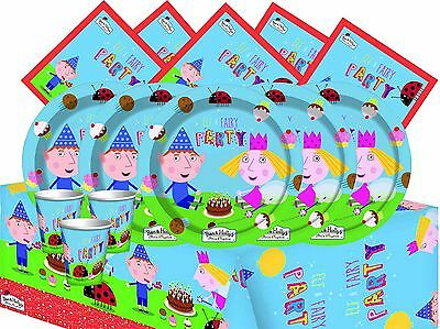 Ben And Holly's Little Kingdom Party Tableware Childrens Birthday Decorations