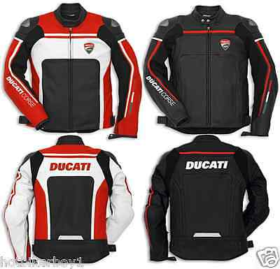 Latest 2016 Ducati Racing Motorbike Motorcycle Leather Jacket CE Approved Armors