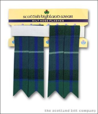 New Mens Freedom 100% Acrylic Wool Kilt Hose Flashes with Garters